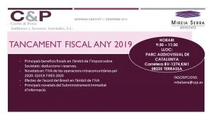 Seminari Tancament Fiscal 2019